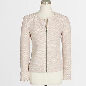 J. Crew Tweed Full-Zip Blazer Jacket Size 4